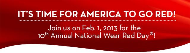 2013 wear red banner
