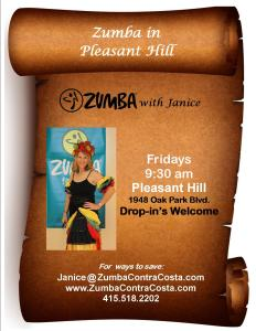 Zumba Fridays 9:30 am, Pleasant Hill