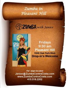 Zumba Fridays 9:30 am, Pleasant Hill