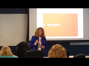 Janice Litvin Speaks about Heart Health at Workday, Pleasanton