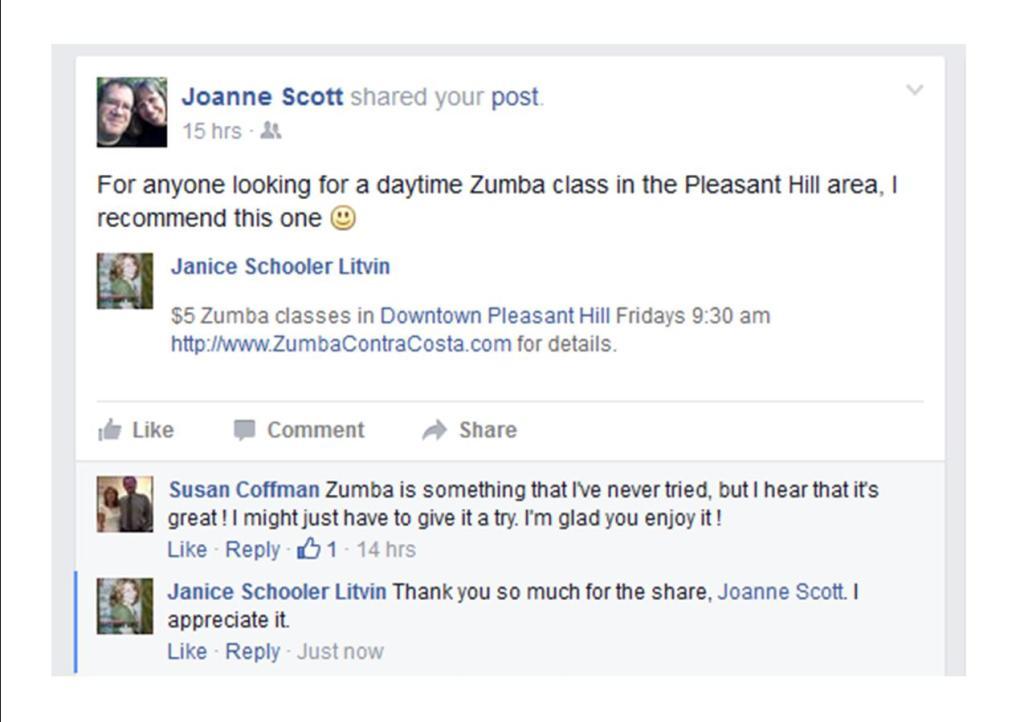 Joanne likes Zumba Contra Costa